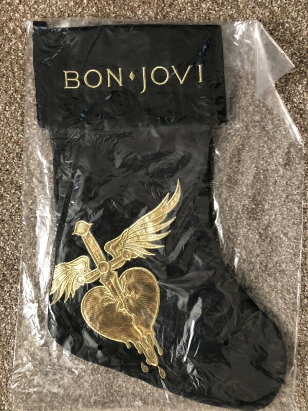 Bon Jovi Heart And Dagger Christmas Stocking New