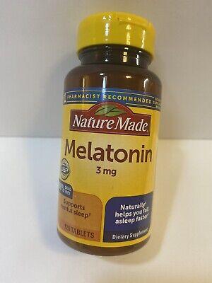 Melatonina 3 mg Tablets 120 Nature Made Expires 11/2023