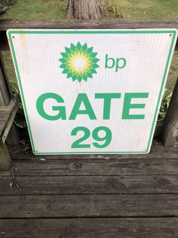 Vintage BP Gas British Petroleum Plant Advertising Gate Sign