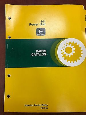 John Deere Parts Catalog 341 Power Unit Pc935 Used