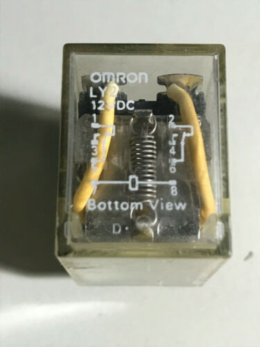 Omron Relay LY2 , 12 VDC coil, Contact 1/2 hp 120 vac, 10A 240 vac