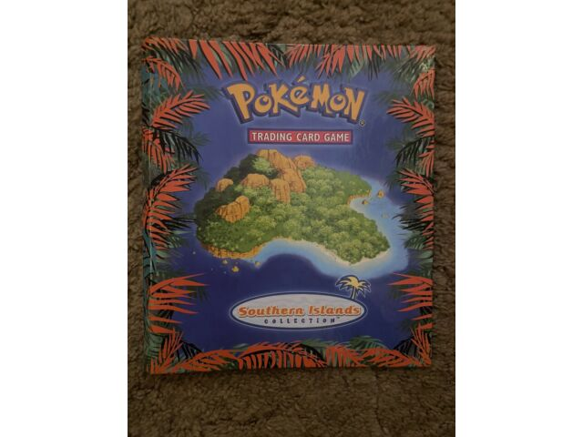 Pokemon Southern Islands Complete Set (18/18 Cards) in Binder