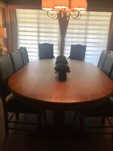 """Dining room table 83"""" x  53""""  with 8 chairs"""