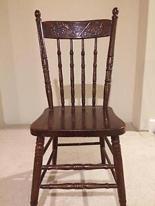 Antique Chair  Australia carvings in back Westmeadows Hume Area Preview
