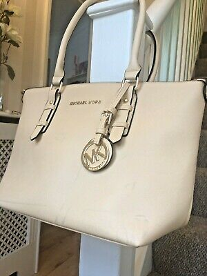 Michael Kors Handbag Jet Set Travel Carryall Tote Bag - Nude, Beige, Cream