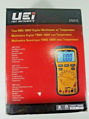 Uei Dm515 Rms 1000v Digital Multimeter Temperature