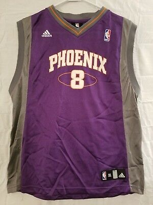 f72b361e8fc Adidas NBA Phoenix Suns Basketball Jersey #8 Frye Purple Gray Youth Size XL