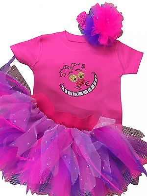 Cheshire Cat 80S Fancy Dress Party Costume Tutu Set Baby Kids Toddler Bling Top  - Cheshire Cat Costume Baby