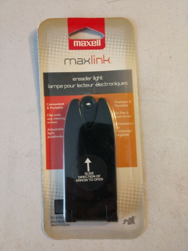 MAXELL MAXLINK ADJUSTABLE READING LIGHT for E-Readers