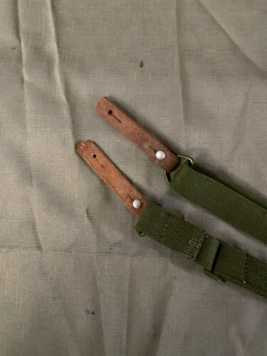 Leather Strip & Original Chinese Stamped 7.62 SKS Type 56 Rifle Canvas Sling