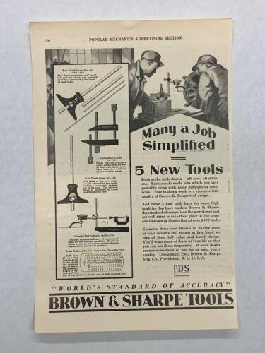 Brown & Sharpe Tools Advertisements 1929