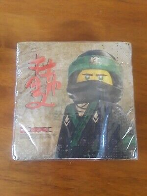 LEGO NINJAGO LUNCH PARTY NAPKINS 16 Pieces 2-ply, NEW Birthday Party Napkins