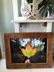 Wall Art/ Picture* Autumn Leaves with Beautiful Wood/ Timber Frame