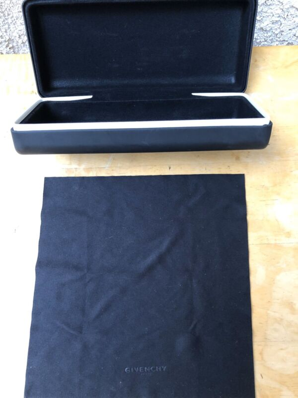 New Givenchy Black Sunglasses Hard Case With Cleaning Cloth