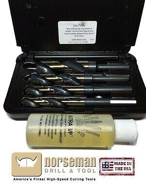 Norseman 4pc Super Premium Drill Bit Set 916 58 34 1 12250 Wcutting Oil