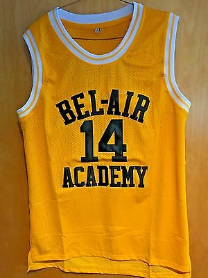 Will Smith  14 The Fresh Prince Of Bel Air Basketball Jersey Sewn Gold W  Black