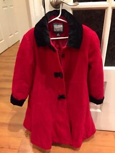 Girls size  6x Rothschild  Christmas dress coat