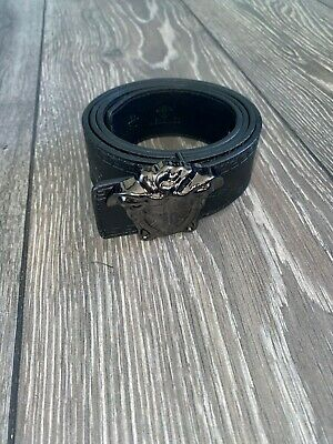Men's Black Versace Belt 32''-44'' (Silver Belt Buckle)