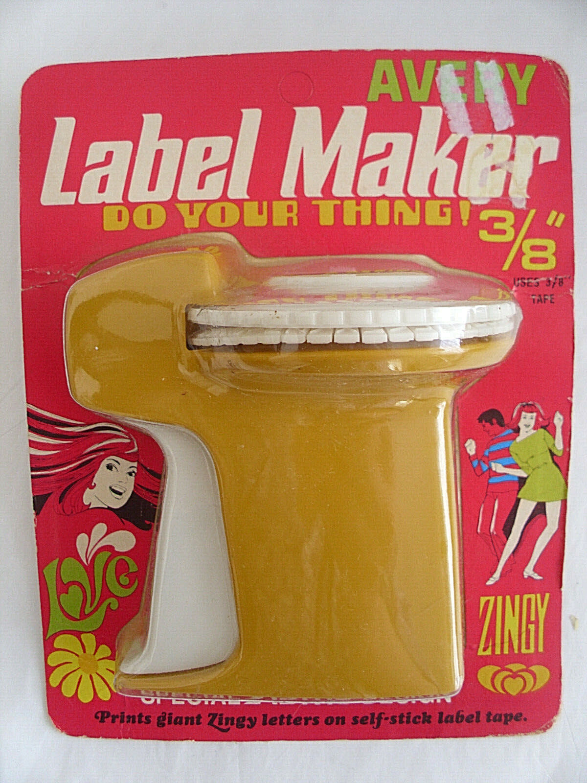Vintage late 60s Avery Label Maker New in Groovy Packaging!