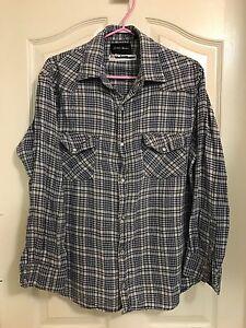 Vintage Plaid Button Up Shirt