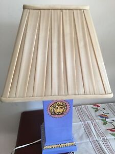 55cm Versace Inspired Handprinted Lamp Base and Shade Montmorency Banyule Area Preview