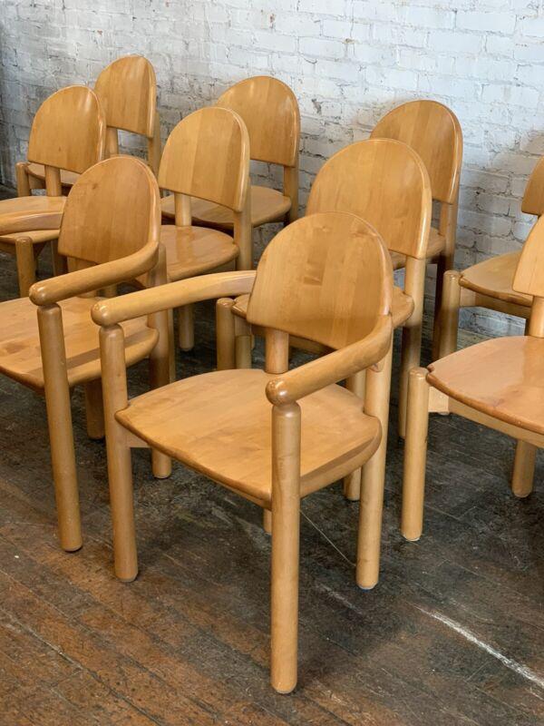 Set of 12 Danish MCM Rainer Daumiller Chairs