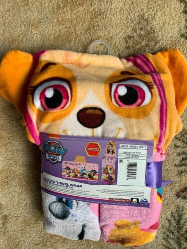 """NWT PAW PATROL By Nickolodeon  Hooded Towel Wrap 24"""" X 50"""""""