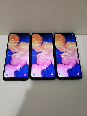 LOT OF THREE Samsung Galaxy A10e SM-A102U-32GB-Sprint Smartphone See Description Iii Android Smartphone
