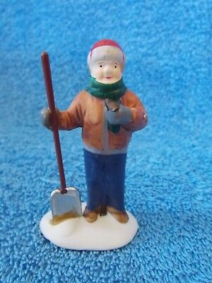 Lemax Man With Shovel Figurine Christmas Village Accessory