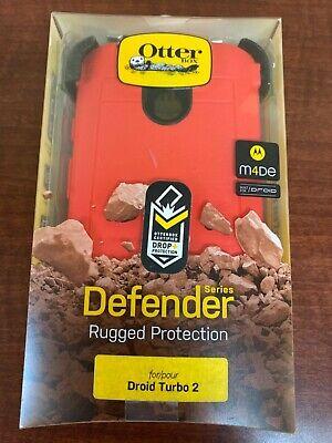 Original OtterBox Defender Case + Clip for Motorola Droid Turbo 2 - Red