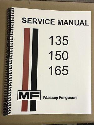 165 Massey Ferguson Tractor Technical Service Shop Repair Manual MF165 MF