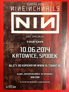 NIN NINE INCH NAILS & COLD CAVE - LIVE IN POLAND - Polish promo FLYER - <span itemprop=availableAtOrFrom>Gdynia, Polska</span> - NIN NINE INCH NAILS & COLD CAVE - LIVE IN POLAND - Polish promo FLYER - Gdynia, Polska