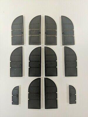 Lego Black Castle Doors 1x5x10 Wood Curved Top Vintage Part 2400 six sets