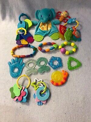 Lot Of 16 Baby Teething Toys Keys Stroller Car Seat Toys