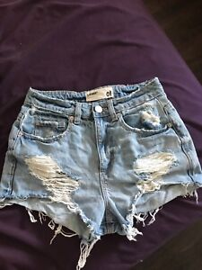 sexy jean shorts Worn Once.