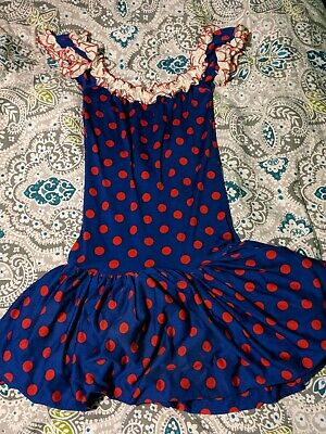 Vintage raggedy Ann Halloween costume dress