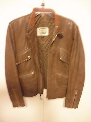 Mens Vintage Yamaha 70's Leather Cafe Racer Motorcycle Jacket size 40, used for sale  Shipping to Canada