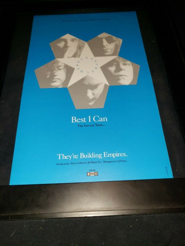 Queensryche Best I Can Rare Original Radio Promo Poster Ad Framed!