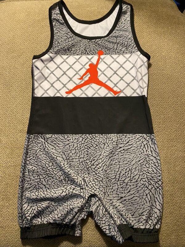 Men's Nike Air Jordan Wrestling Singlet Large L
