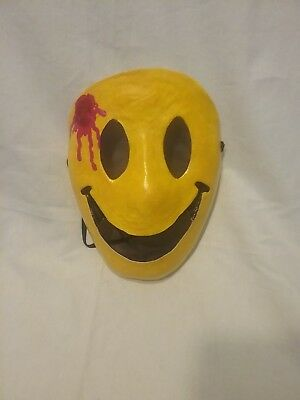Happy smilie face mask. Halloween party, masquerade party mask.