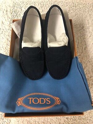 TOD'S JUNIOR (KIDS) GOMMINO DRIVING SHOES NAVY SUEDE Size 28 (Size 11)