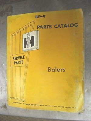 International Bp-9 Baler Parts Catalog Manual Cover 166 Ser 501k Up