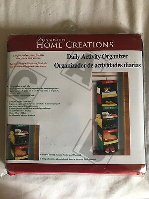 Innovative Home Creations Kid's Daily Activity/Clothes Organizer Storage NEW
