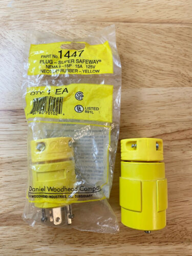 WOODHEAD 1447 PLUG-SUPER SAFEWAY MALE/FEMALE