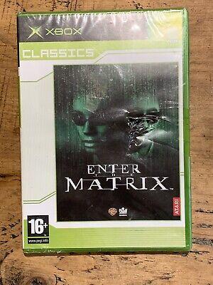 ENTER THE MATRIX XBOX CLASSICS GAME new & MICROSOFT spine sealed