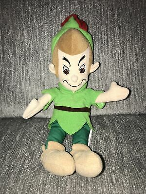 "11"" DISNEY STORE VINTAGE MINI PETER PAN BEAN BAG DOLL STUFFED ANIMAL PLUSH TOY"