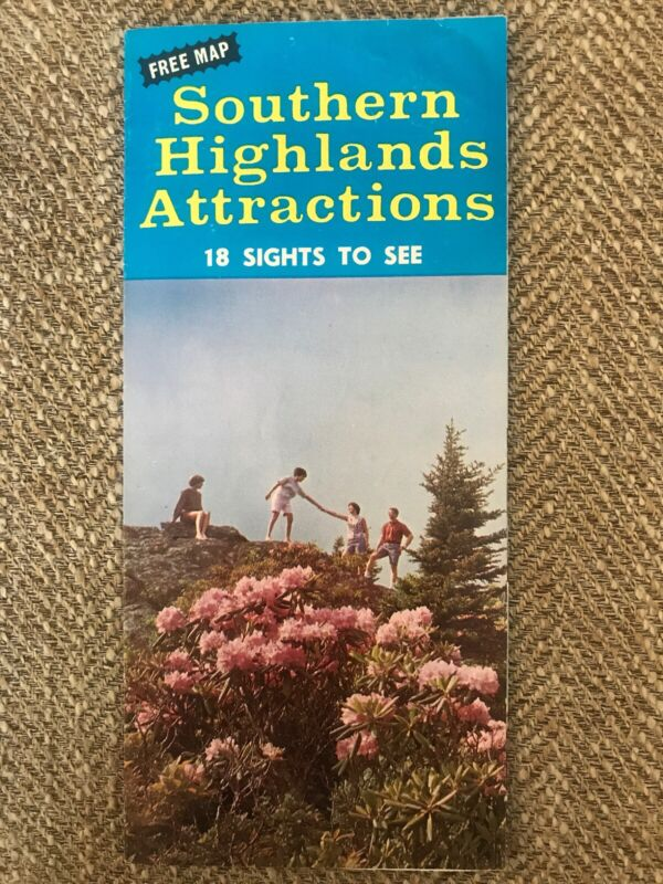 VTG 1960's Southern Highlands Attractions Brochure Map (Frontierland Land)