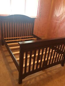 Kid craft double wood bed