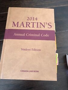 Martin's Annual criminal code 2014 barely used
