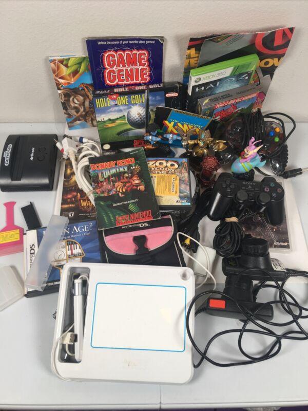 30+ Huge Video Game DS Sega GBA SNES Manual Accessory XBOX PS2 lot